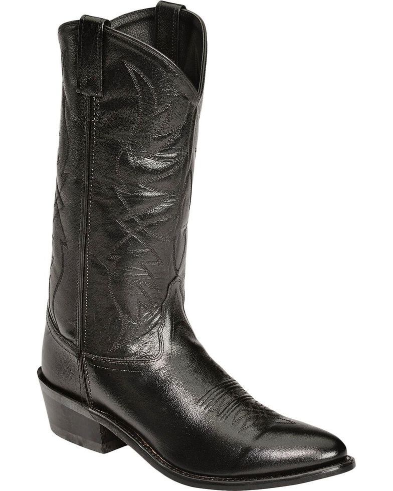 4d93e02a432 Old West Smooth Leather Cowboy Boots - Medium Toe