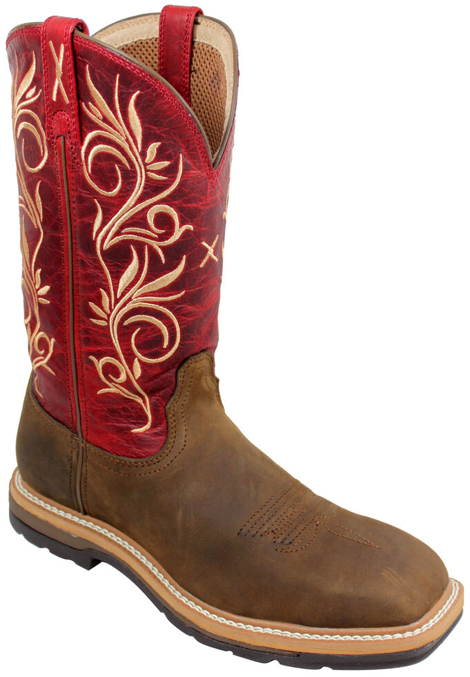 96a0106e4b5c Twisted X Red Lite Cowgirl Work Boots - Steel Toe