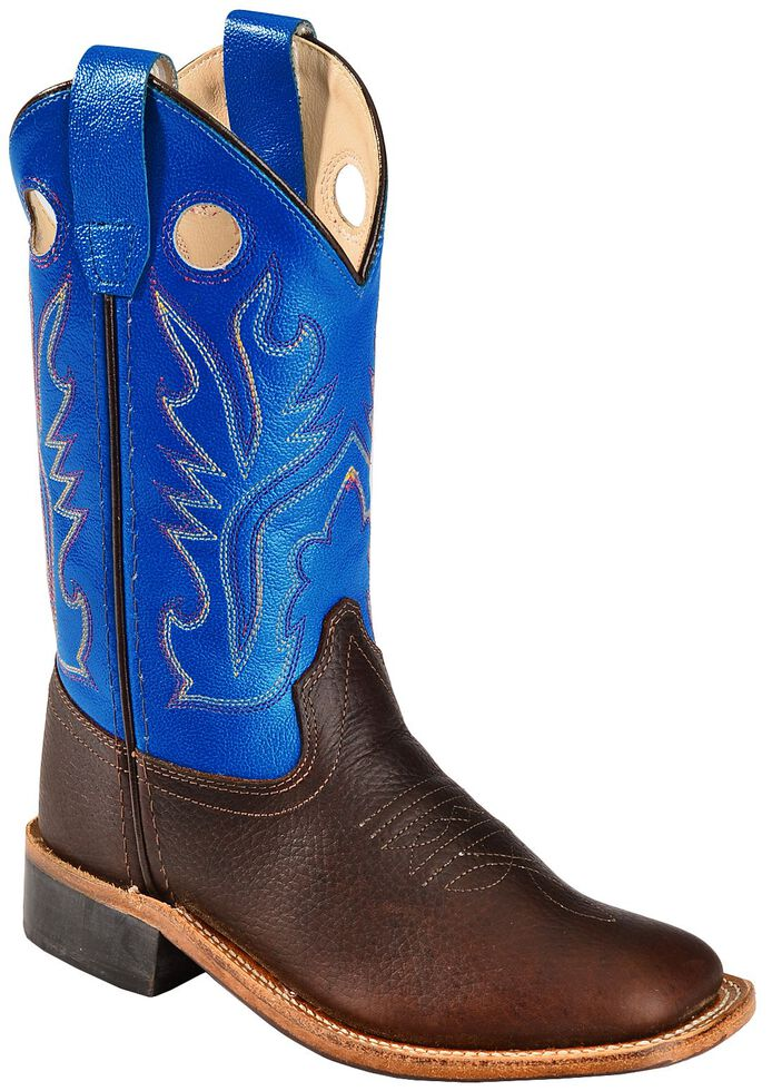 d0db8c5fedd Old West Youth Boys  Thunder Cowboy Boots - Square Toe