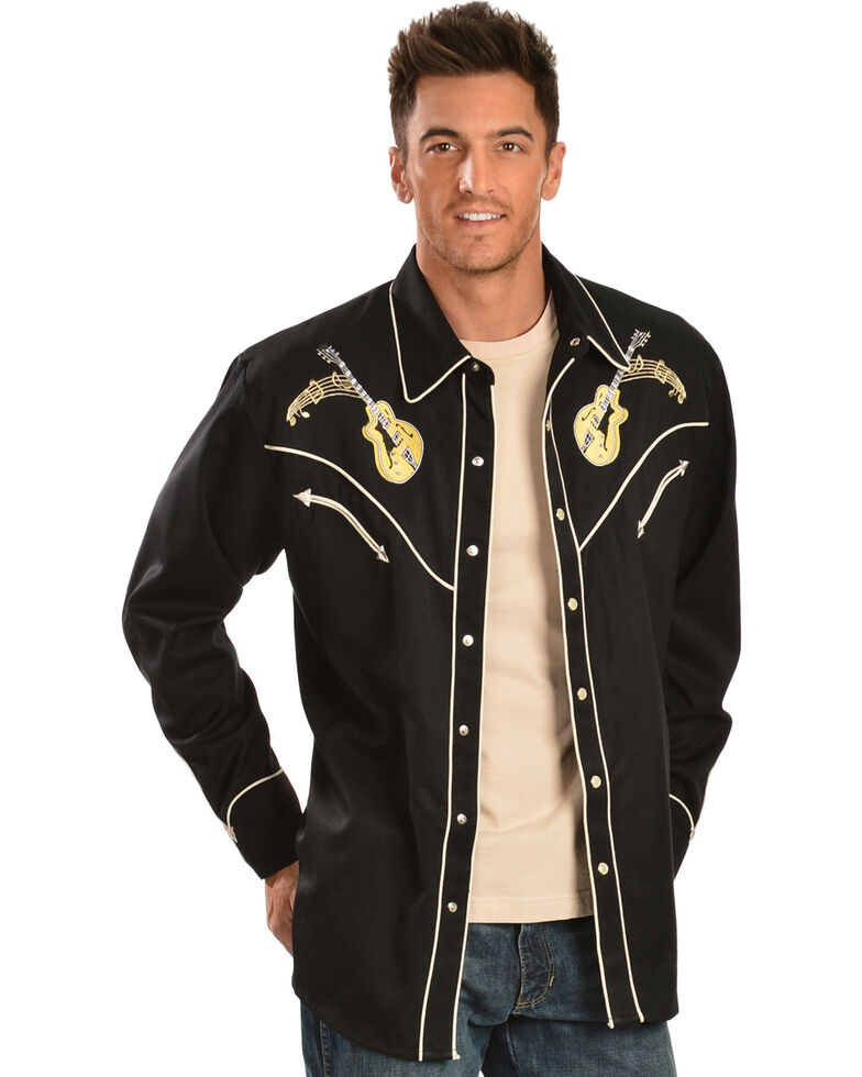 ed5ba776 Scully Rock 'N Roll Embroidered Retro Western Shirt