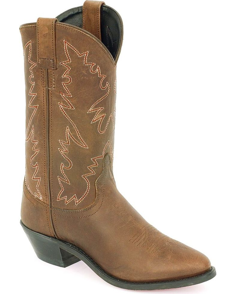 87414aefe74f Old West Distressed Leather Cowgirl Boots