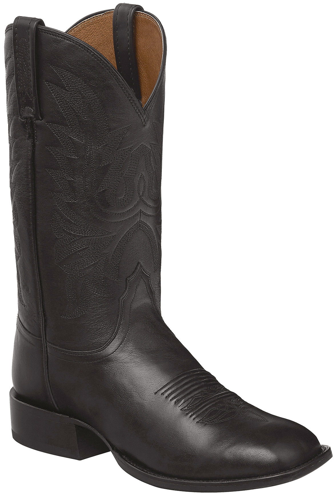 womens cross boots cowboy corral boot cognac comforter most toe img products studs comfortable square inlay ladies bone